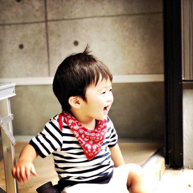 可愛いお子さまの笑顔